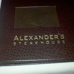 Photo taken at Alexander's Steakhouse by Cory W. on 1/6/2012