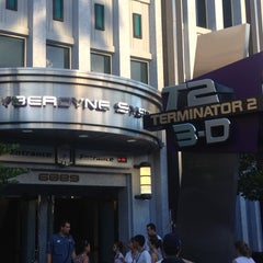 Photo taken at Terminator 2 3-D: Battle Across Time by Todd on 7/27/2012