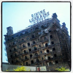 Photo taken at Divine Lorraine Hotel by Christopher on 4/15/2012
