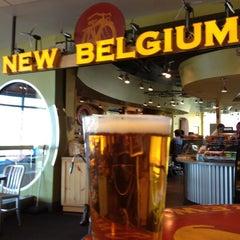 Photo taken at New Belgium Brewing Hub by Rick V. on 12/18/2011