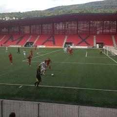 Photo taken at Stade de la Maladiere by Jürg B. on 8/26/2012
