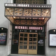 Photo taken at Michael Jordan's Steak House Chicago by Chunky Sean N. on 10/17/2011