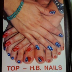 Photo taken at top hb nails by Nicole T. on 6/15/2012