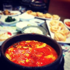 Photo taken at BCD Tofu House by Nicole M. on 5/2/2012
