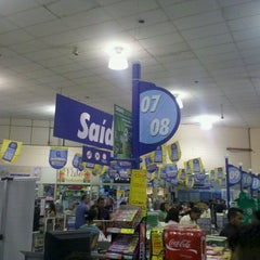 Photo taken at Lopes Supermercados by Manoel Antônio A. on 10/8/2011