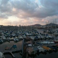 Photo taken at Muelle Deportivo by Rafa S. on 4/3/2012