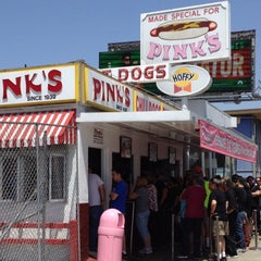 Photo taken at Pink's Hot Dogs by Mike S. on 4/29/2012