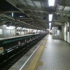 Photo taken at 西中島南方駅 (Nishinakajima-Minamigata Sta.) (M14) by Kenji N. on 5/15/2012