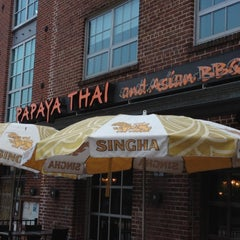 Photo taken at Papaya Thai & Asian BBQ by Martin H. on 7/18/2012