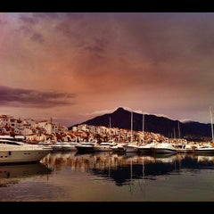 Photo taken at Puerto Banús by rosie s. on 11/20/2011