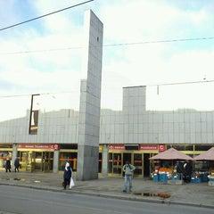 Photo taken at Metro =C= Nádraží Holešovice by Tigra S. on 1/10/2012