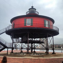 Photo taken at Seven Foot Knoll Lighthouse by Jon B. on 9/6/2012