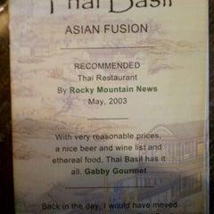 Photo taken at Thai Basil by Jim T. on 9/10/2011