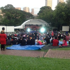 Photo taken at Fort Canning Park by Khai Zam D. on 1/1/2012