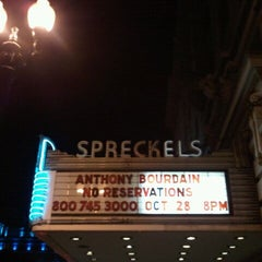 Photo taken at Spreckels Theatre by Stephanie F. on 10/29/2011