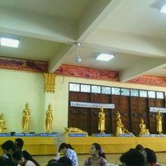 Photo taken at วัดเนื่องจำนงค์ by Pravarisa S. on 4/13/2012
