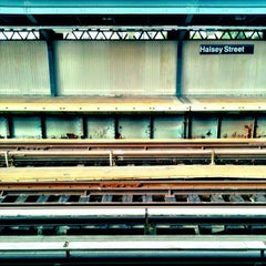 Photo taken at MTA Subway - Halsey St (J/Z) by Eric A. on 7/31/2012