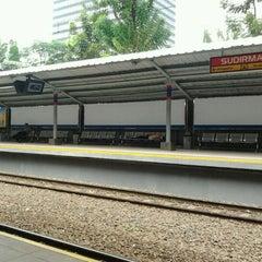 Photo taken at Stasiun Sudirman by Wiratta R. on 6/11/2011