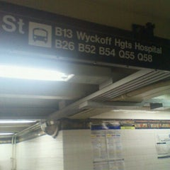 Photo taken at MTA Subway - Myrtle/Wyckoff Ave (L/M) by Marc R. on 10/21/2011