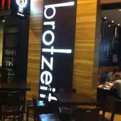Photo taken at Brotzeit German Bier Bar & Restaurant by cynfulwords on 11/3/2011