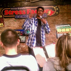 Photo taken at Stress Factory Comedy Club by JRSIV on 4/30/2011