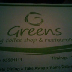 Photo taken at Greens  Veg Coffee Shop by Suyash B. on 1/26/2012
