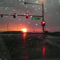 Photo taken at CR 215 at W Sahara Ave / Desert Foothills Dr by Stephen W. on 9/14/2011
