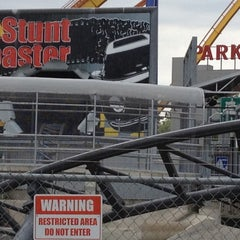 Photo taken at Backlot Stunt Coaster by Bruno M. on 6/24/2012