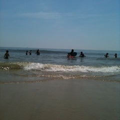 Photo taken at 59th St Beach by Alexis on 6/10/2012