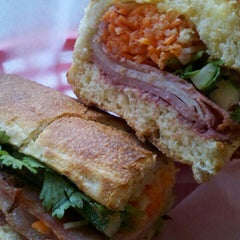 Photo taken at Xe Máy Sandwich Shop by Nina C. on 5/29/2012
