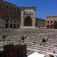 Photo taken at Piazza Sant'Oronzo by Antonella L. on 7/28/2012