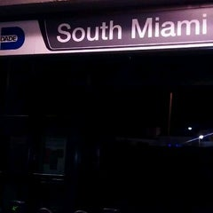 Photo taken at MDT Metrorail - South Miami Station by Anna I. on 1/13/2012