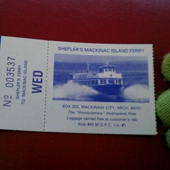 Photo taken at Shepler's Mackinac Island Ferry by Charli K. C. on 11/5/2011