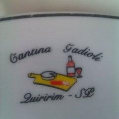 Photo taken at Cantina Gadioli by Juliana C. on 1/8/2012