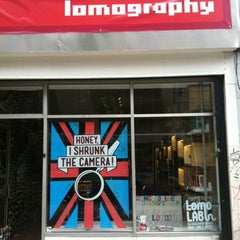 Photo taken at Lomography Gallery Store Manchester by Bernardo M. on 8/3/2012