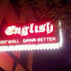 Photo taken at English Bar & Restaurant by Mama G on 5/18/2012