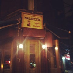 Photo taken at Malatesta Trattoria by Dina on 5/25/2012