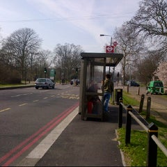 Photo taken at Bus Stop U by Hanane A. on 3/14/2012