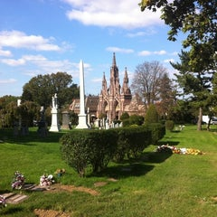 Photo taken at The Green-Wood Cemetery by Ian P. on 10/23/2011