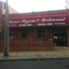 Photo taken at Leone's Pizzeria by Zebbie J. on 2/15/2012