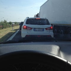 Photo taken at A22 - Mantova Sud by Ambra M. on 5/10/2012