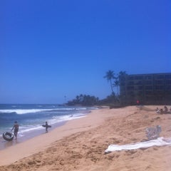 Photo taken at Makaha Beach Park by Andy H. on 6/8/2012