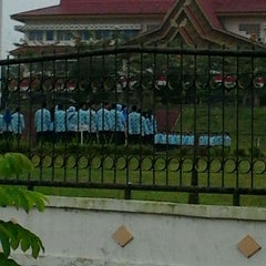 Photo taken at Lapangan Upacara Kantor Bupati by BEBEN M. on 8/17/2011