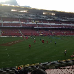 Photo taken at Newlands Rugby Stadium by Nate D. on 5/12/2012
