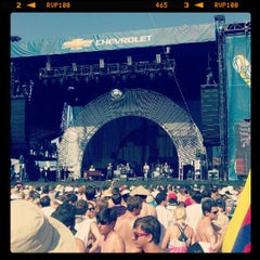 Photo taken at Chevrolet Stage at Hangout Music Fest by Brandon B. on 5/20/2012