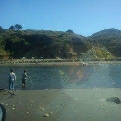 Photo taken at Playa de Tirúa I by Viviana C. on 2/6/2012