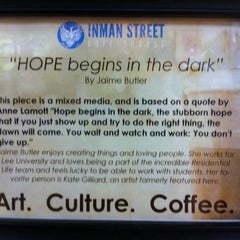 Photo taken at Inman Street Coffeehouse by Yvonne R. on 3/2/2012