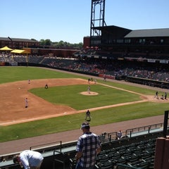 Photo taken at AutoZone Park by Paul N. on 4/19/2012