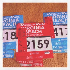 Photo taken at Rock 'n' Roll Virginia Beach Half Marathon Expo by Carrie L. on 9/1/2012