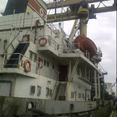 Photo taken at Main Gate Kuantan Port by Adri Idzwan C. on 1/24/2012